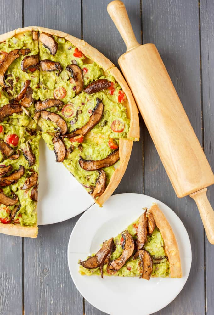 Vegan Guacamole Pizza 4