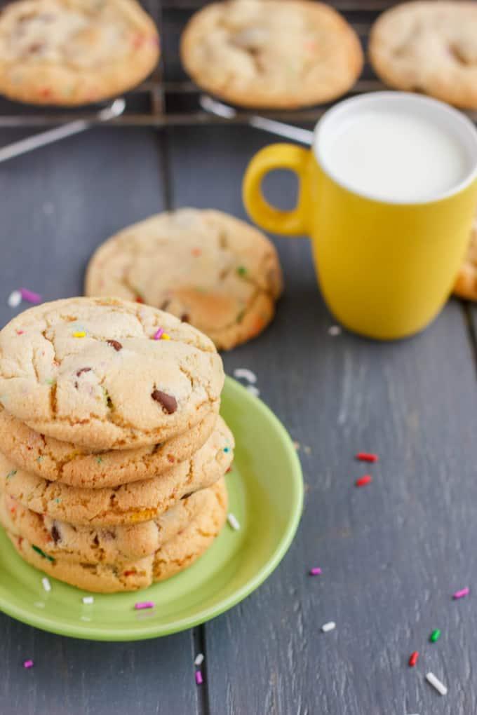 Birthday Cake Chocolate Chip Cookies 1