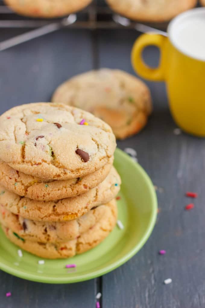 Birthday Cake Chocolate Chip Cookies 2