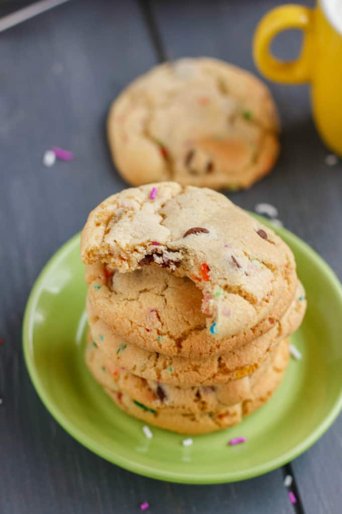 Birthday Cake Chocolate Chip Cookies 4