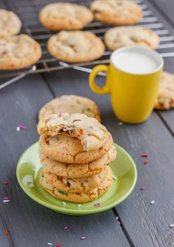 Birthday Cake Chocolate Chip Cookies 5