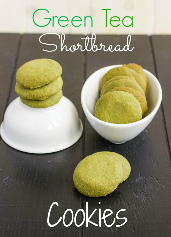 Matcha Green Tea Shortbread Cookies title