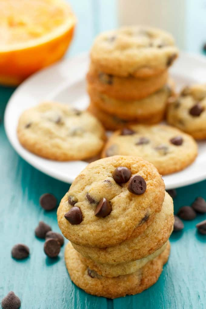 Orange Chocolate Chip Cookies #chocolate