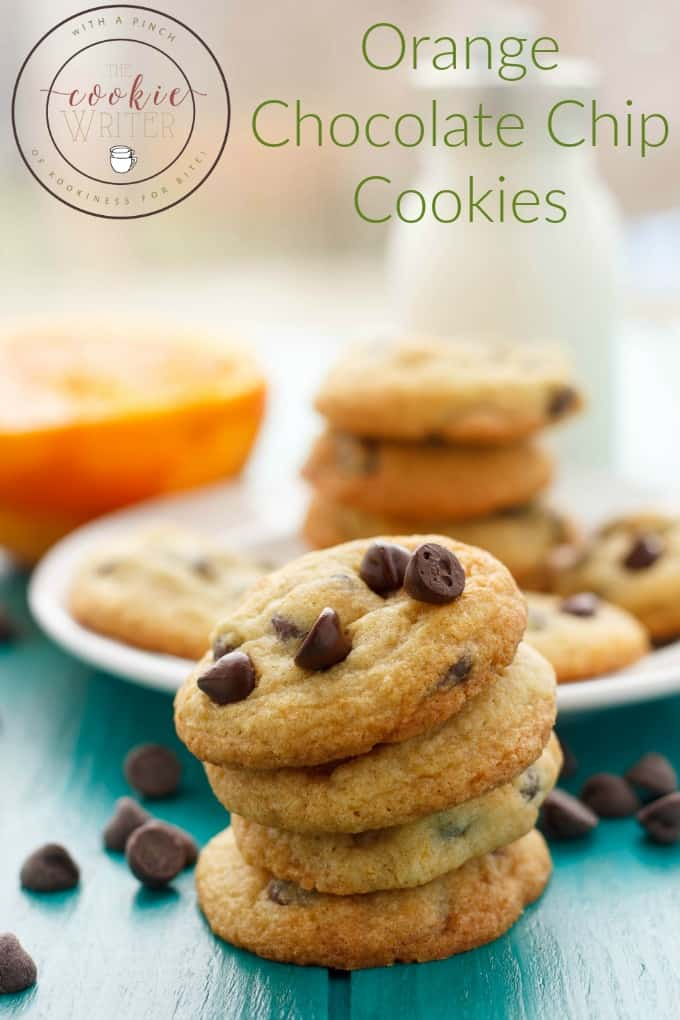 Orange Chocolate Chip Cookies #cookies