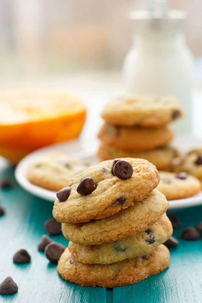 Orange Chocolate Chip Cookies #vegetarian