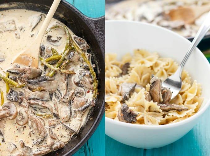 Portobello mushroom and pasta recipes