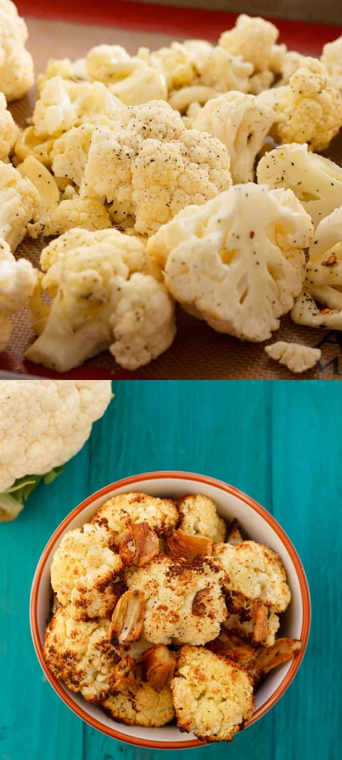Roasted Cauliflower with Garlic #sidedish