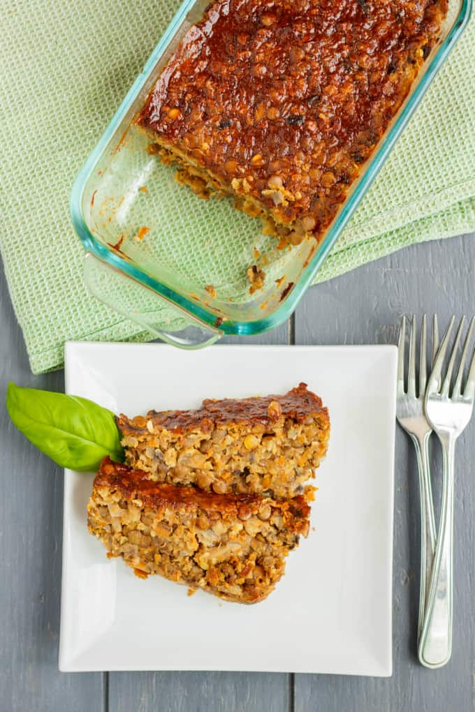 Vegetarian Meat Loaf made with Lentils 1