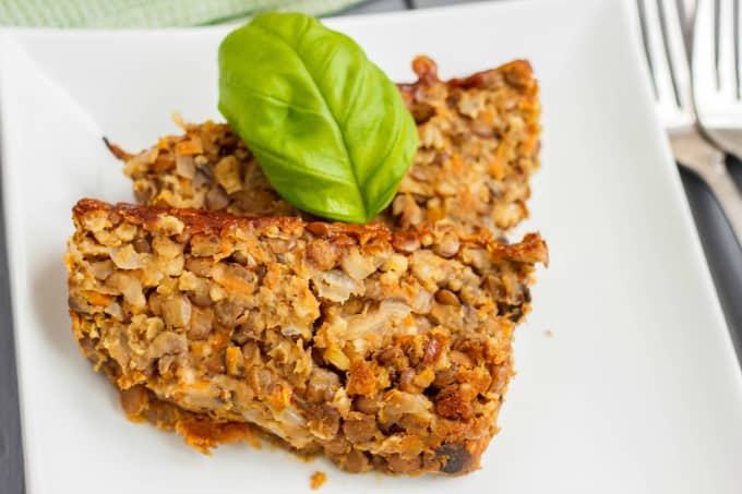 Vegetarian Meat Loaf made with Lentils 3