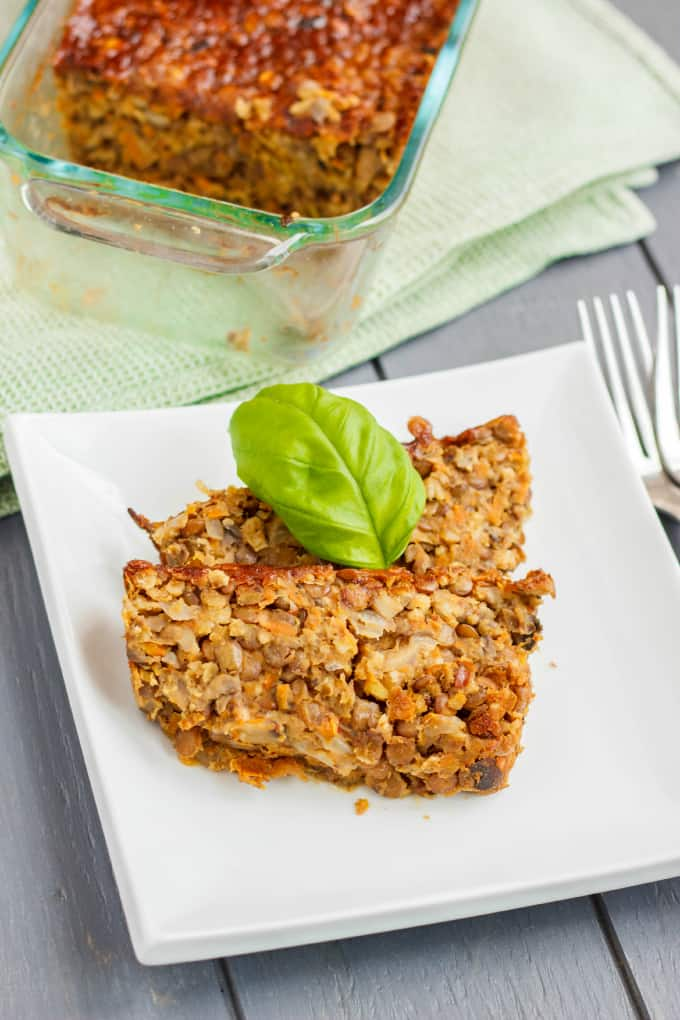 Vegetarian Meat Loaf made with Lentils 4