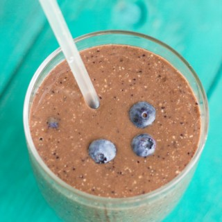 Almond Milk Banana-Blueberry Breakfast Smoothie 5