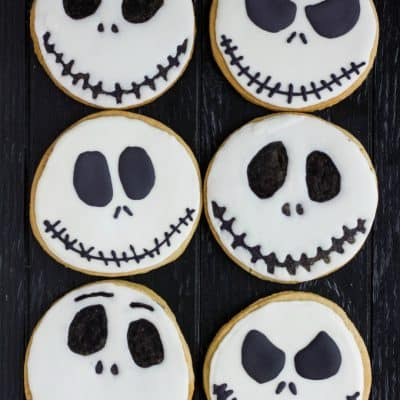 Jack Skellington Royal Icing Cookies