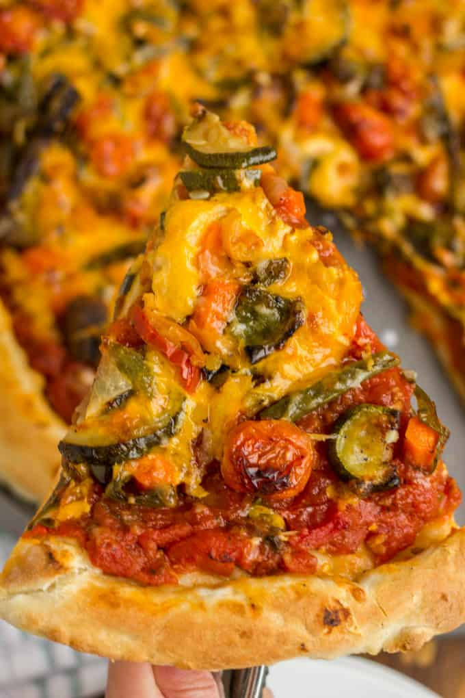 Roasted Vegetable Pizza with Ghost Pepper Sauce 2