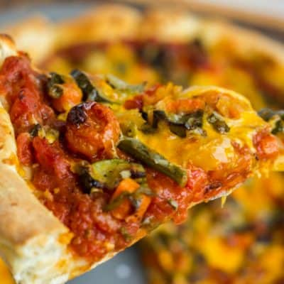 Roasted Vegetable Pizza with Ghost Pepper Sauce
