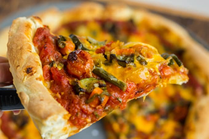 Roasted Vegetable Pizza with Ghost Pepper Sauce 3