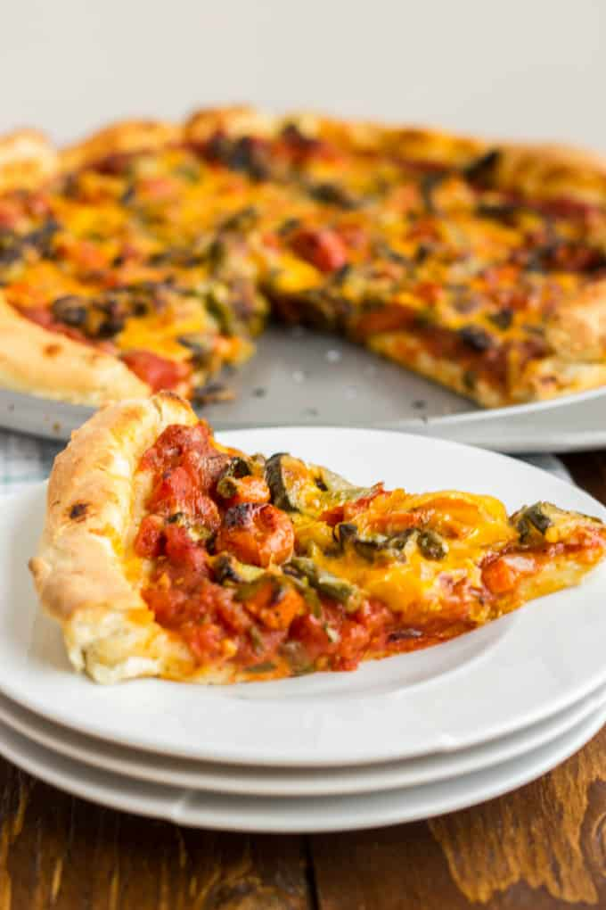 Roasted Vegetable Pizza with Ghost Pepper Sauce 4