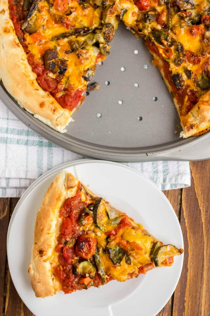 Roasted Vegetable Pizza with Ghost Pepper Sauce 5