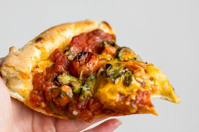 Roasted Vegetable Pizza with Ghost Pepper Sauce 6
