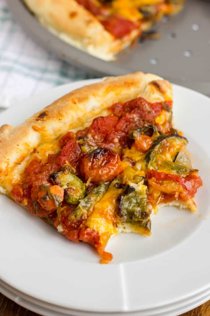 Roasted Vegetable Pizza with Ghost Pepper Sauce 7