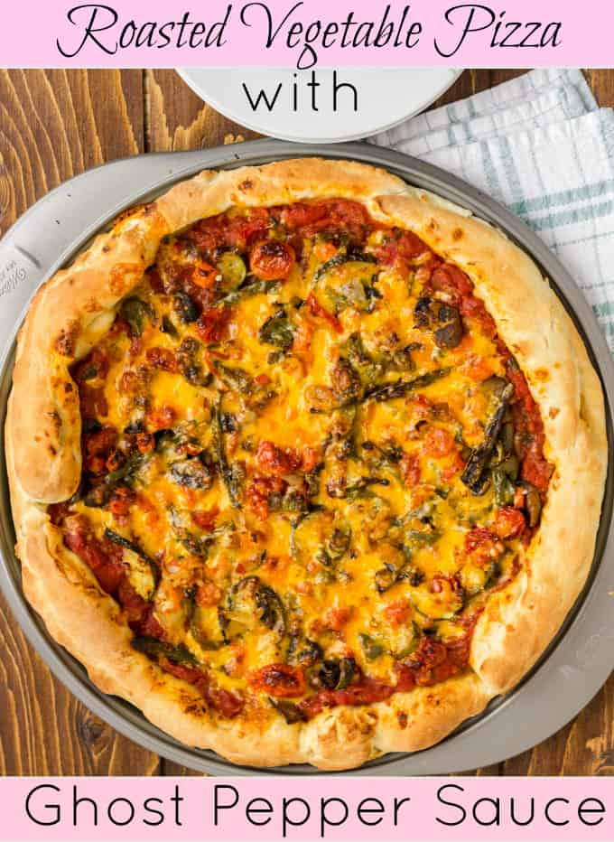 Roasted Vegetable Pizza with Ghost Pepper Sauce Title