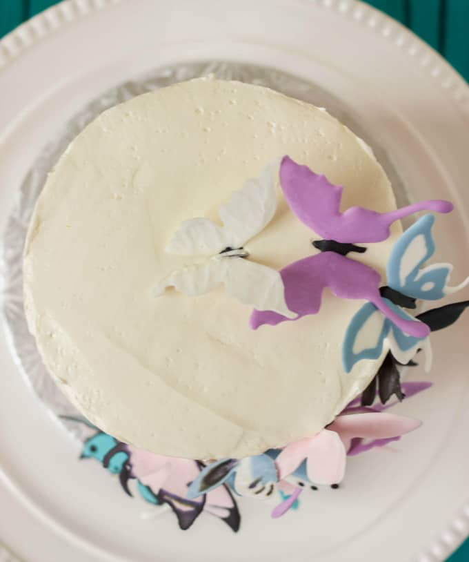 Pink Ombre Cake with Royal Icing Butterflies 4