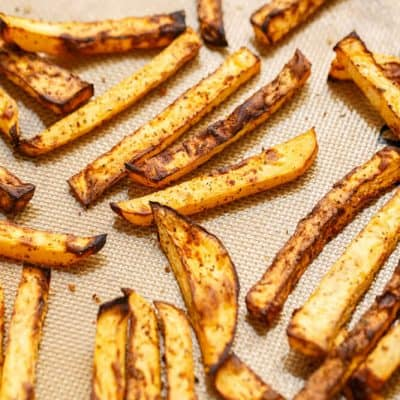 Rutabaga Fries using Leftovers