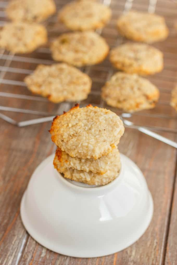 Two-Ingredient Coconut and Banana Cookies 3