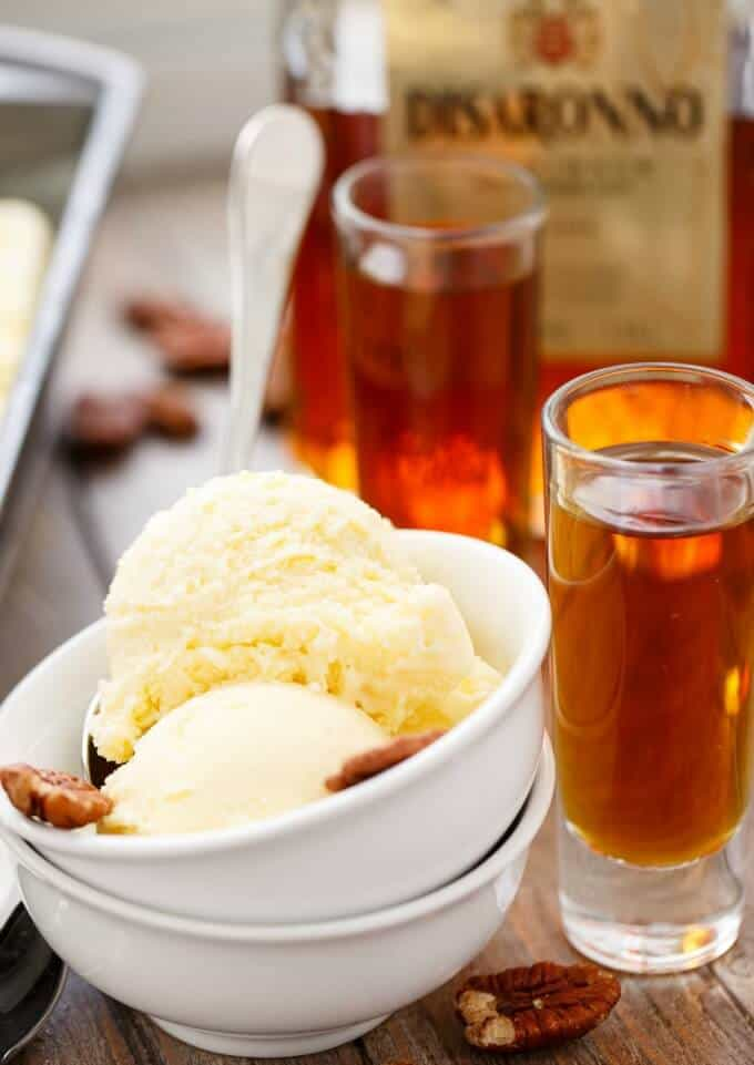 Amaretto Ice Cream #icecream
