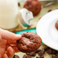 Double Chocolate Cookies with Hershey's CHIPITS