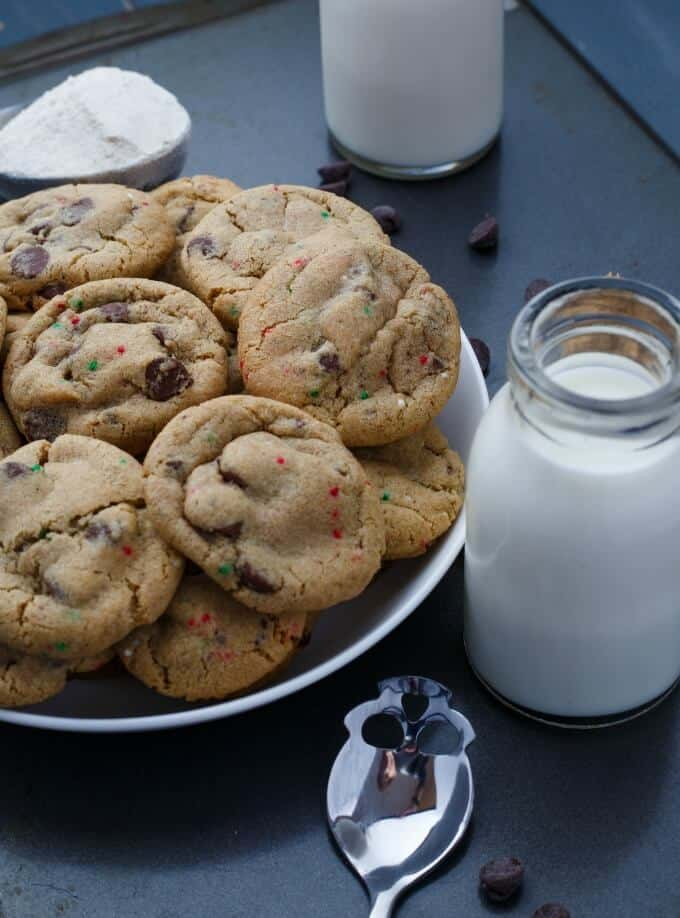 Gluten-Free Peppermint Cookies with Chocolate Chips