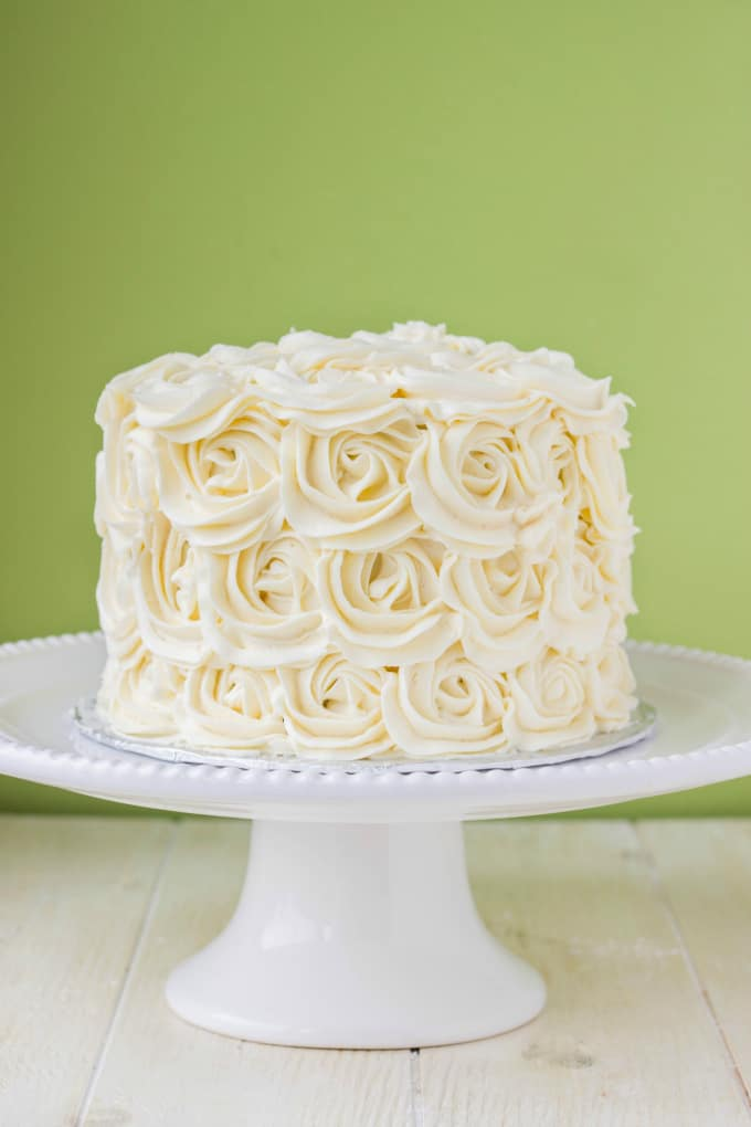 Red Velvet Cake with Vanilla Buttercream Rosettes 8