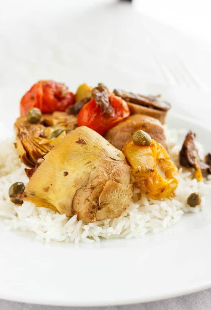 chicken recipes with artichoke hearts and mushrooms