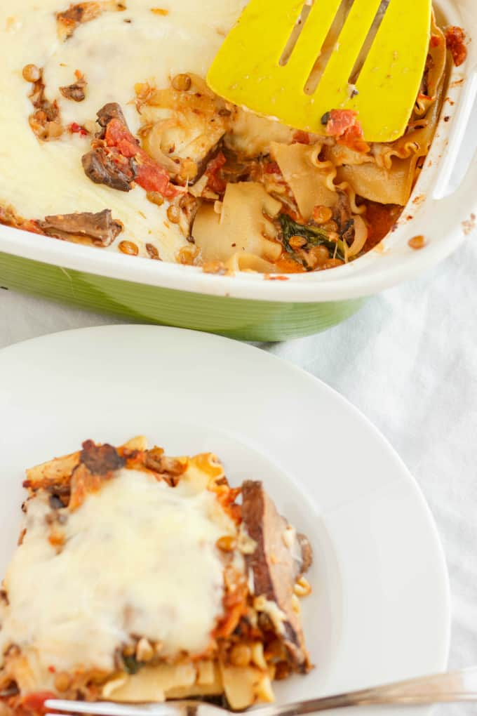 Lentil Lasagna in a Roasted Portobello Cream Sauce 10