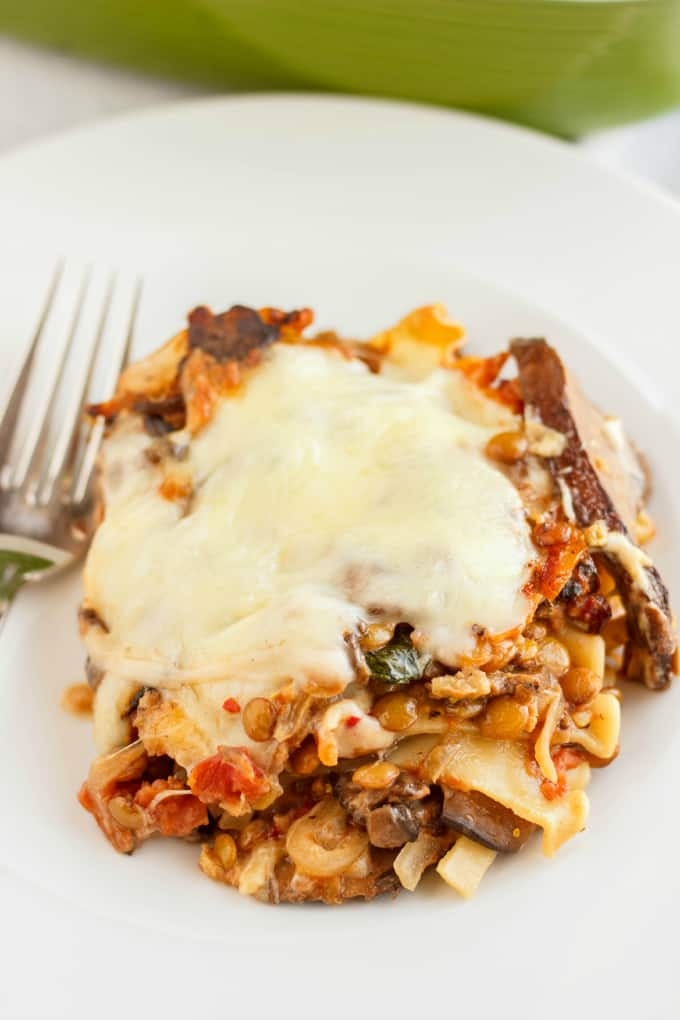 Lentil Lasagna in a Roasted Portobello Cream Sauce 5