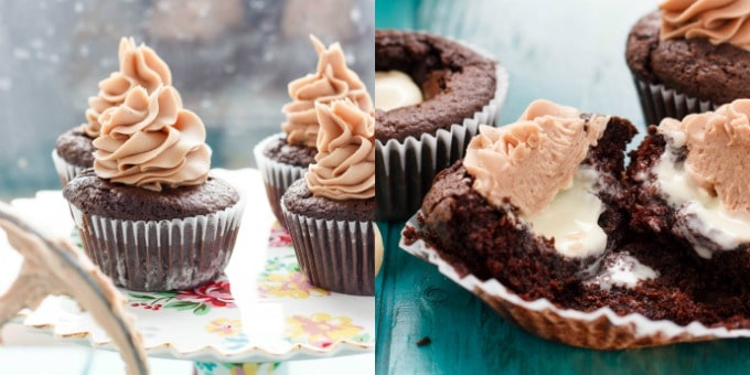 Rich, decadent, and dangerous! These Lindor milk chocolate cupcakes with chocolate buttercream are so worth breaking any diets for!