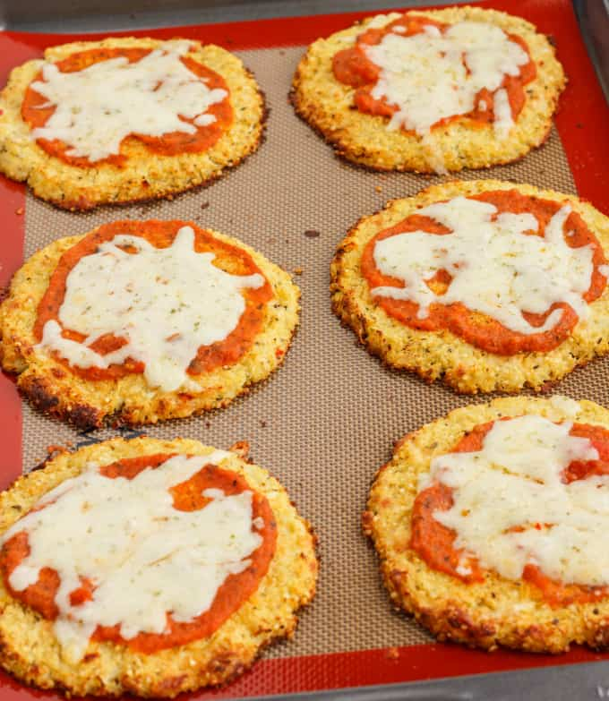 Mini Cauliflower Pizza Crusts Recipe — Dishmaps