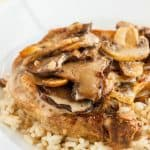 Pork Loin Chops in a Creamy Mushroom Sauce