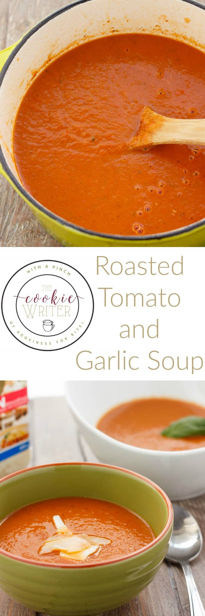 Roasted Tomato and Garlic Soup #healthy #vegan