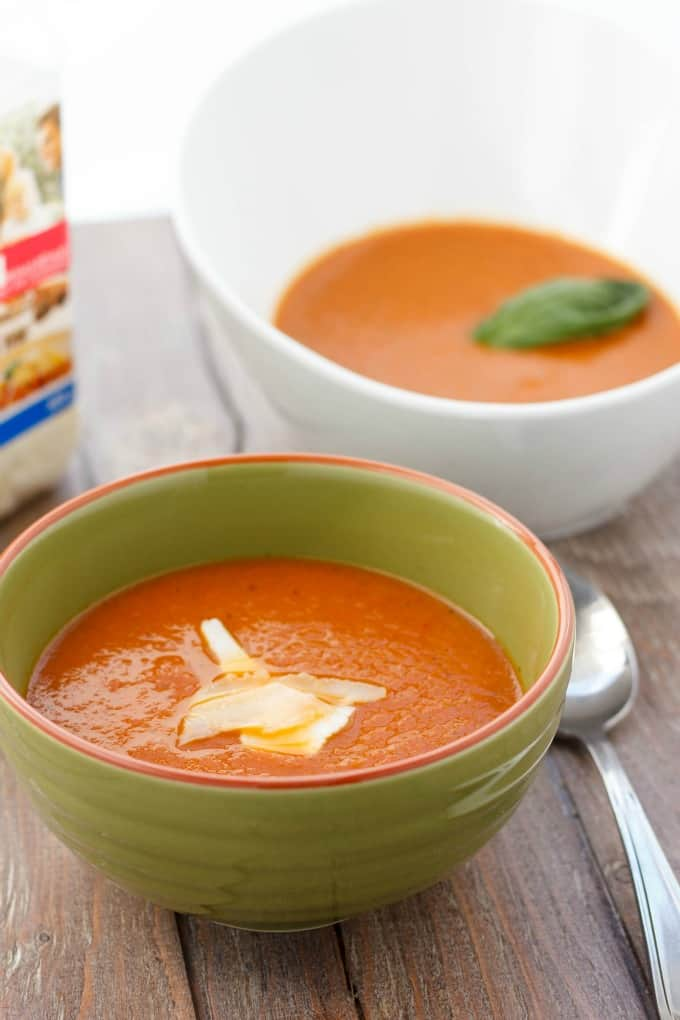 Roasted Tomato and Garlic Soup #tomato