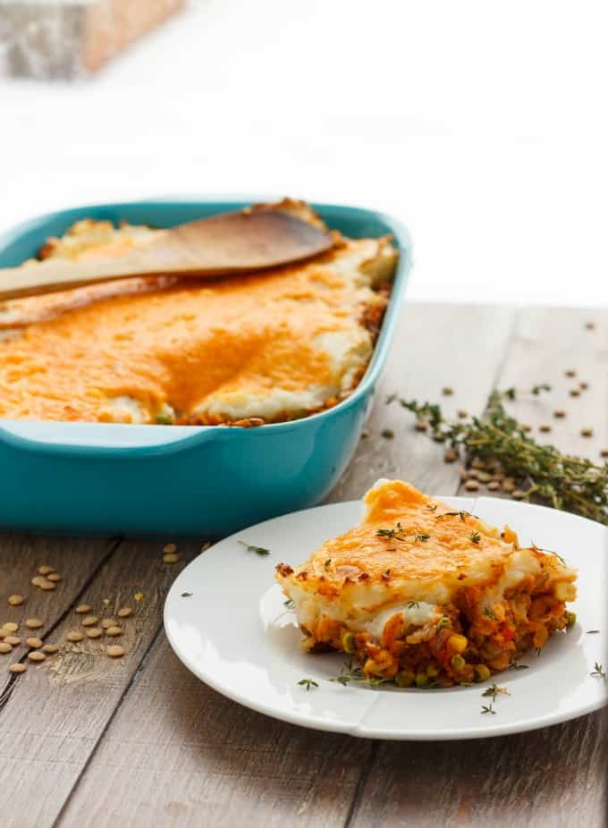 Vegetarian Shepherd's Pie (Vegan Shepherd's Pie Included.) #vegetarian