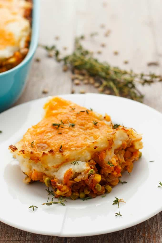 Vegetarian Shepherd's Pie (Vegan Shepherd's Pie Included.)