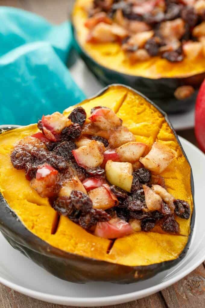 acorn-squash-stuffed-with-apple-and-raisins-squash