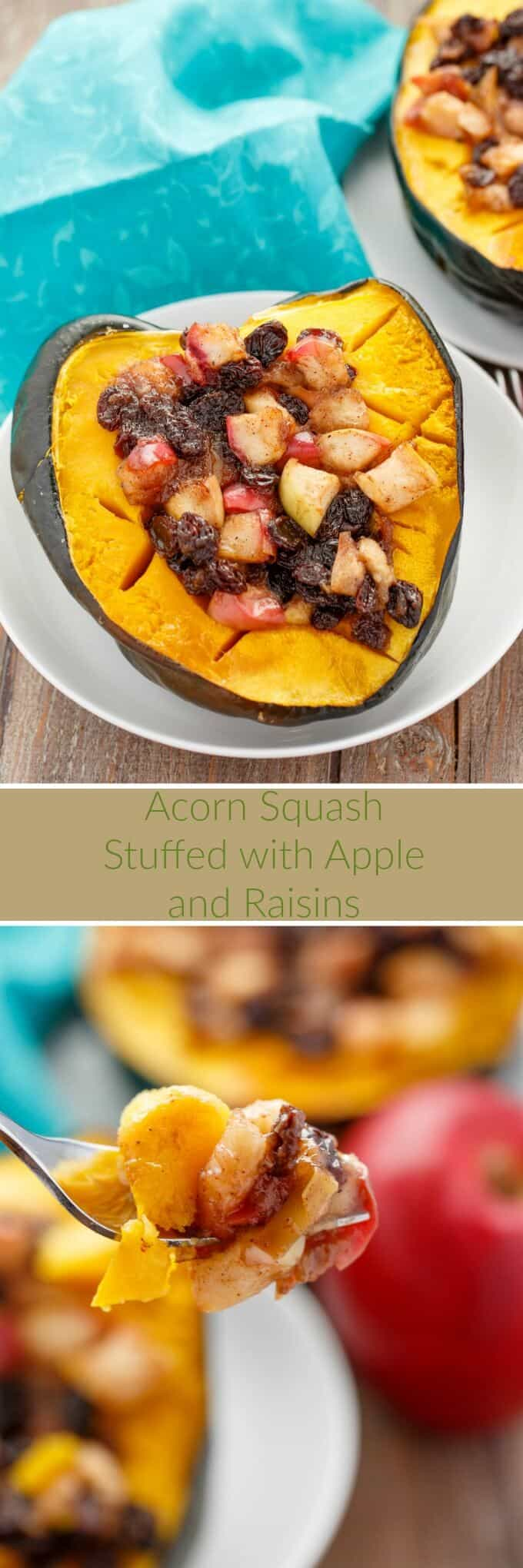 acorn-squash-stuffed-with-apple-and-raisins