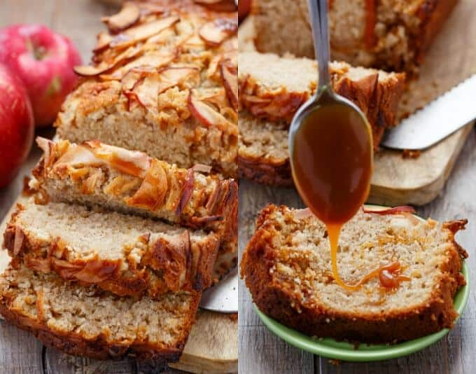Apple Cinnamon Bread with Caramel