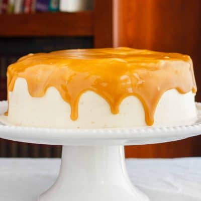 Caramel and Coffee Layer Cake with Coffee Buttercream