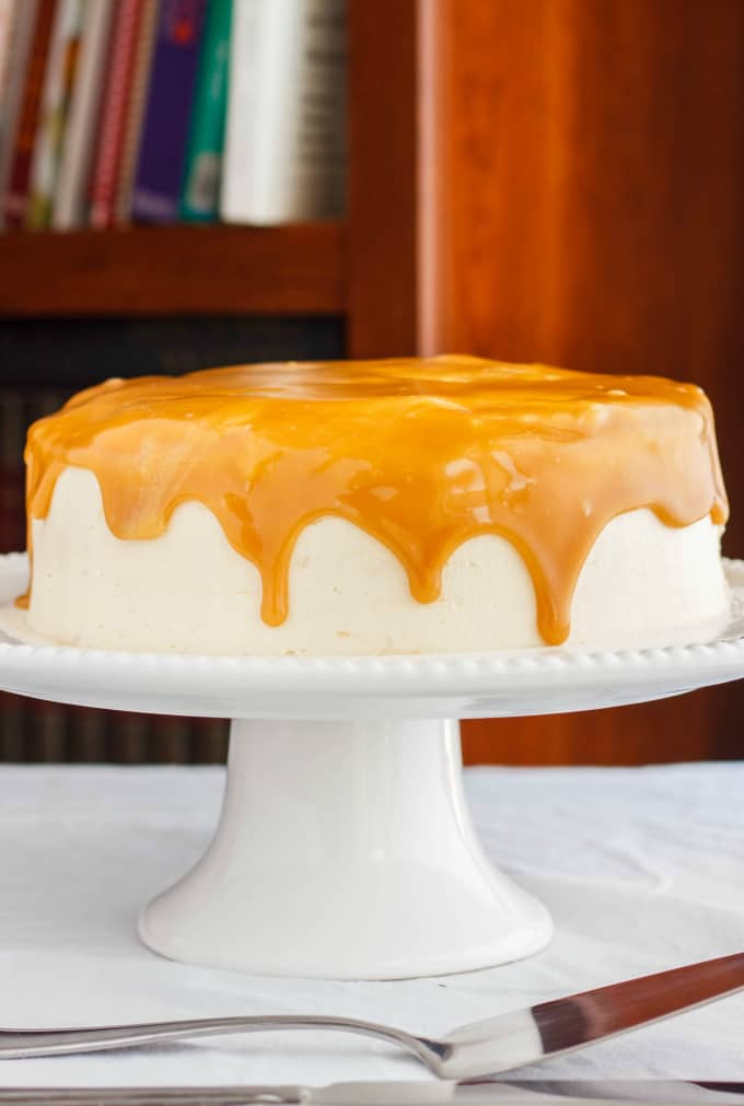 Caramel and Coffee Layer Cake with Coffee Buttercream - The Cookie ...