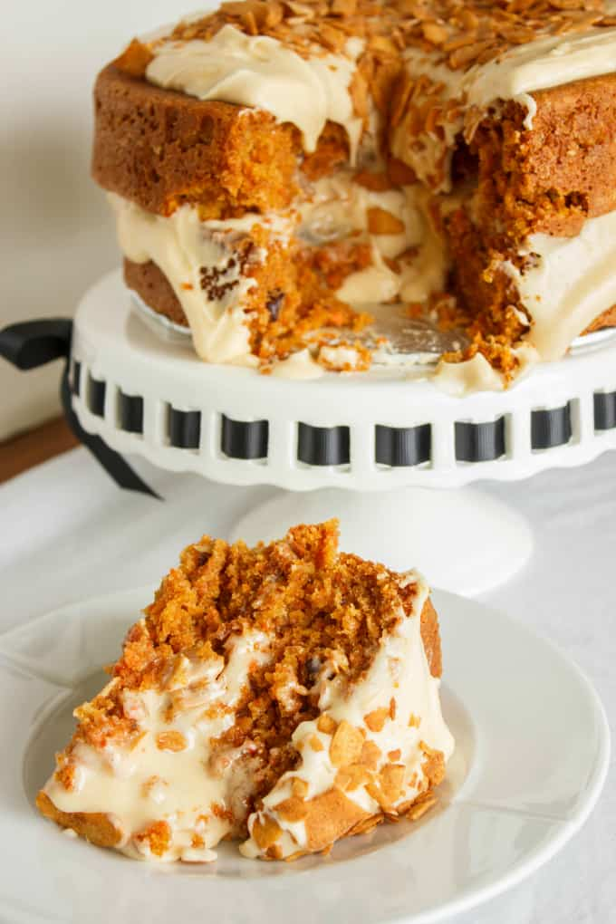 Carrot Cake with a Brown Butter and Brown Sugar Buttercream 8