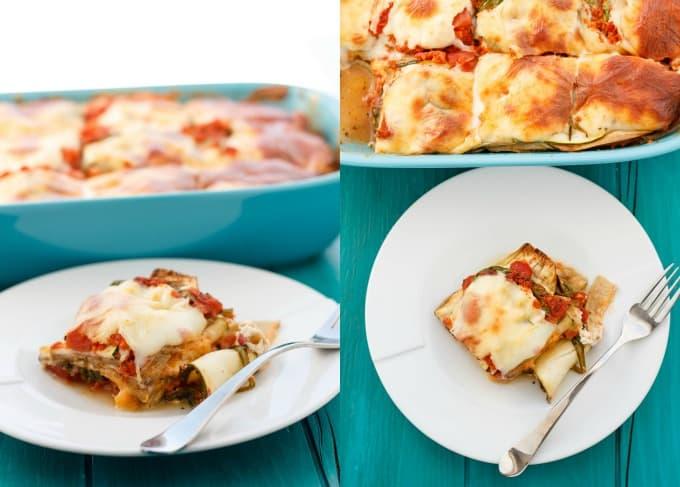 Eggplant and Zucchini Lasagna (No Pasta!) #lasagna