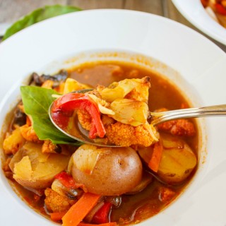 Roasted Vegetable Massaman Curry Soup (Coconut-Free) 7