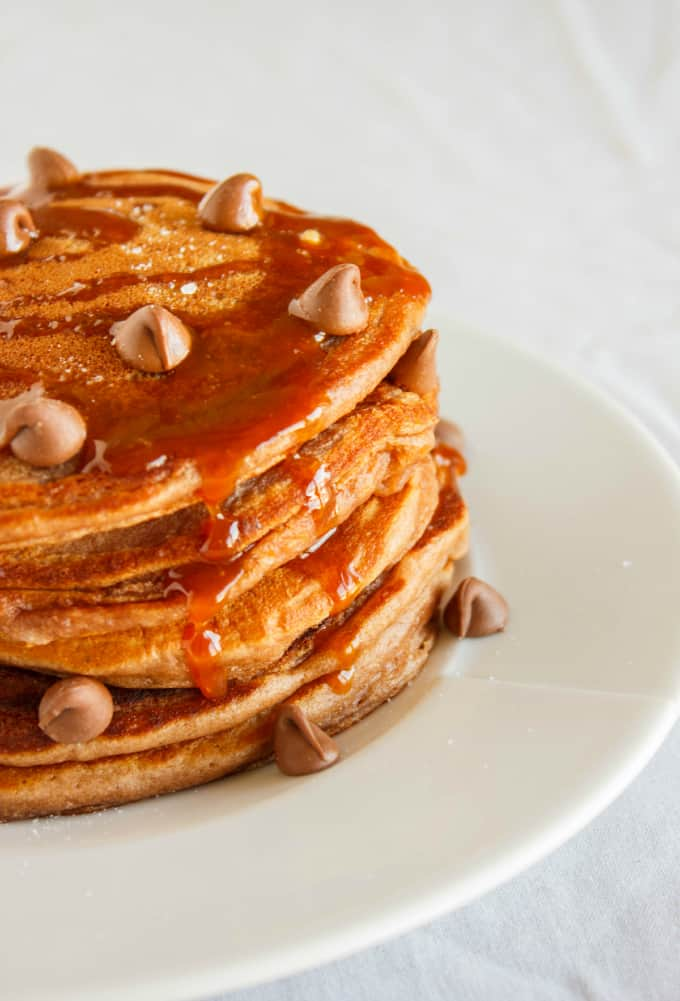 Salted Caramel Hot Chocolate Pancakes 2